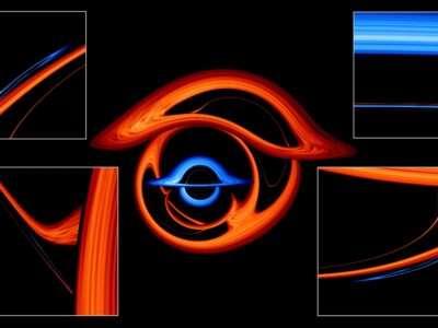 Технології NASA створила захопливу симуляцію взаємодії двох чорних дір nasa космос стаття