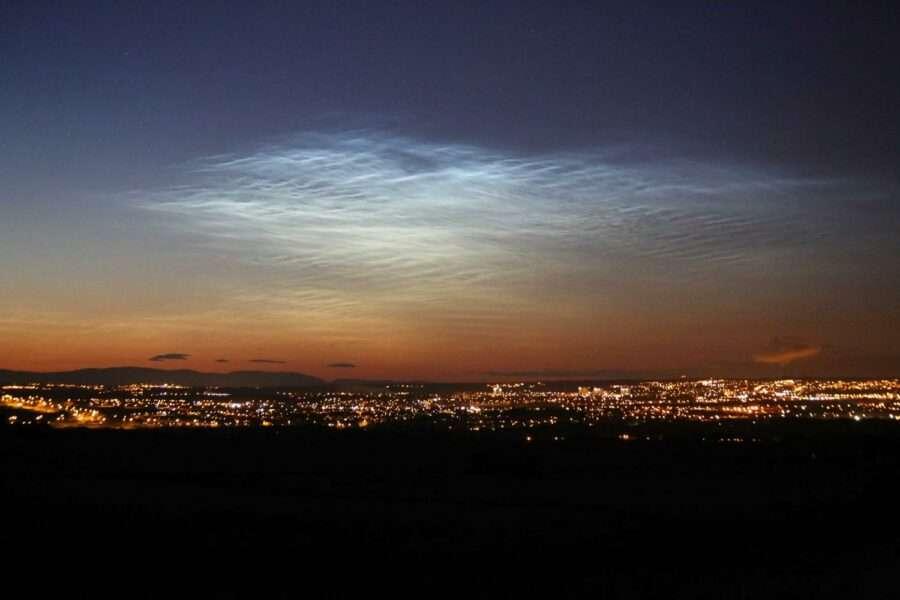 Сріблясті хмари, які утворюються в мезосфері є надзвичайно рідкісним явищем